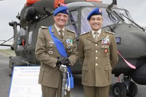Il capo di stato maggiore Errico per l'anniversario Aviazione dell'Esercito