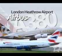 London Heathrow Airport – Airbus A380 Superjumbos British Airways Etihad Emirates [Video]