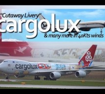 London Stansted Airport – Cargolux LX-VCM Cutaway livery Boeing 747-8 Sky Prime, Talos 757 [Video]