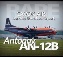 Cavok Air AN-12 Antonov Aeroplane AN12 UR-CJN – London Stansted Airport – 4K Unusual Rare [Video]