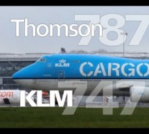 KLM Boeing 747 takeoff Thomson Boeing 787 Dreamliner EasyJet Amsterdam London Stansted Air [Video]