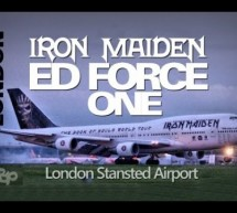 IRON MAIDEN Plane ED FORCE ONE London Stansted Airport Landing Air Atlanta Icelandic Boein [Video]