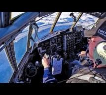 C-130 Hercules Landing at Diamond Mine! [Video]