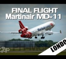 Goodbye MARTINAIR McDonnell Douglas MD-11 FINAL Flight PH-MCP London Stansted Airport [Video]
