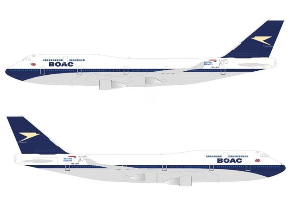 britishairways 747 BOAC