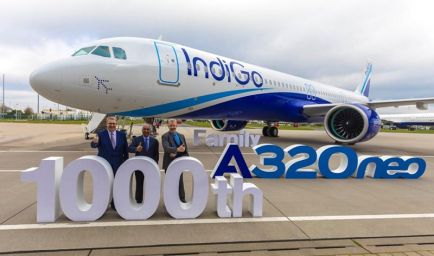 IndiGo 1000th A320 family